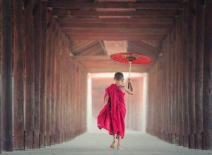Ombrelles ou parapluiesfont la pluie et le beau temps